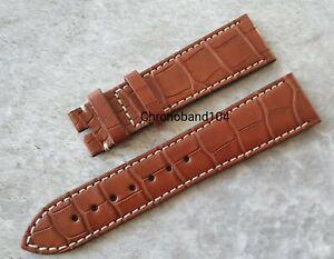 Genuine OEM Zenith 22/18mm Brown Matte Alligator Leather Watch Strap - UNUSED
