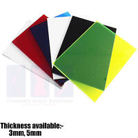 New Colour Perspex Acrylic Sheet Plastic Material Panel  Size A5 A4 A3
