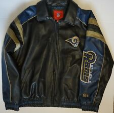 St. Louis Rams NFL Men's Authentic G-III Embroidered Leather Jacket 2XL