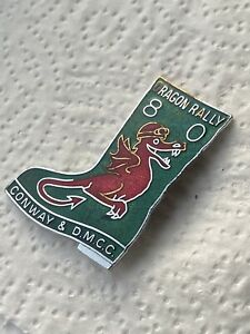 OLD DRAGON RALLY 80 CONWAY & D.M.C.C. DMCC MOTORCYCLE PIN BADGE