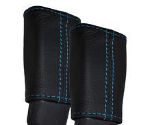 BLUE STITCHING 2X SEAT BELT LEATHER SKIN COVERS FITS HONDA CR-Z CRZ 2010-2015