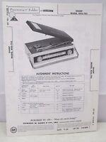 Sams Photofact Folder Parts Manual Sharp Model BXG-703 Transistor Phono Radio
