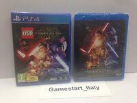 LEGO STAR WARS IL RISVEGLIO DELLA FORZA PS4 + FILM BLU-RAY DISC NUOVO SIGILLATO