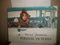 Original Ford Fairline Fordor Victoria Sales Brochure.Great vintage condition!