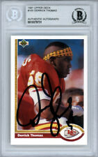 Derrick Thomas Autographed 1991 Upper Deck Card #165 Chiefs Beckett 10379731