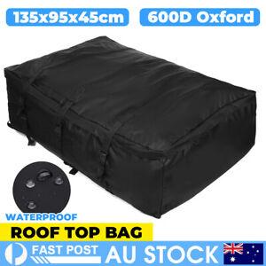 Car Roof Cargo Bag Top Rack Travel Carrier Luggage Storage Waterproof Bag 600D