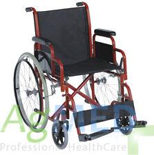 Carrozzina pieghevole da transito 45 cm. Sedia a rotelle per disabili e anziani