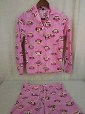 Paul Frank Julius Monkey Pink Fleece 2 pc Pajama Set 100% Polyester Junior Large