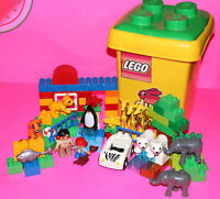 LEGO Duplo #6136 MY FIRST ZOO and Town BABY ZOO #4962 Building Bricks Blocks Toy