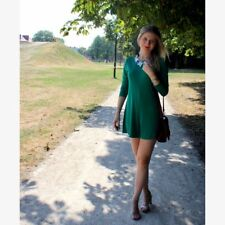 Zara Trafaluc Tie Back Green Jumpsuit
