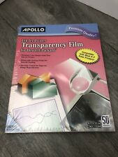Apollo Inkjet Printer Transparency Film, Clear, 50 Sheets (CG7031S)