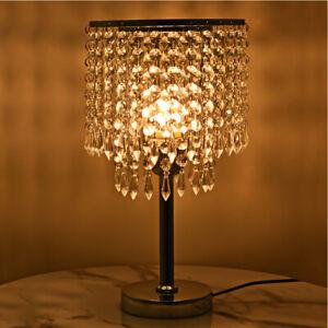 Modern LED Crystal Table Light Bedroom Light Bedside Lamp AU PLUG