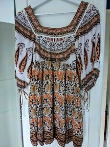 free people boho top XS excellent condition can fit uk 10-12