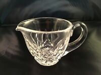 "Vtg WATERFORD Crystal LISMORE Pattern PITCHER CREAMER 3"" tall"