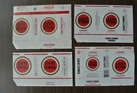 Four very rare vintage wrapper labels Lucky Strike Filter Cigarettes from 1950s