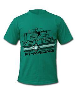 F1 Vettel 5 Grand Prix Formula 1 Racing Driver T-Shirts