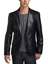 New Original Designer Coat Lambskin Two Button Leather Blazer For Men KA103