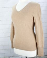 ONLY MINE 100% Cashmere 2-Ply Sweater Pullover V-Neck Women's Small Petite PS