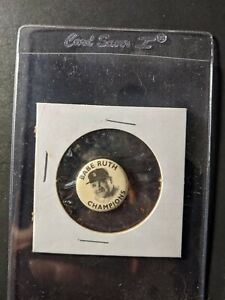 1935 Quaker Babe Ruth Champion Pin