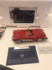 New Listing1959 Corvette Red Die Cast 1:24th by Franklin Mint Nib