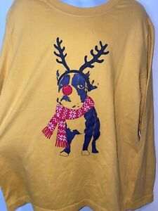 Hanna Andersson LS Rudolph To The Rescue Dog T-shirt Holiday Xmas 130 8 NWT $28