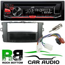 For TOYOTA AURIS E15 JVC CD MP3 USB AUX Car Stereo & Dark Grey Fascia & Kit