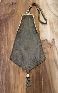 Antique Whiting & Davis gold wash mesh purse