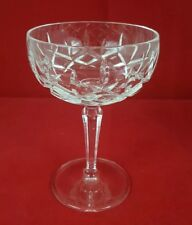 "Gorham Lady Anne Crystal Champagne Sherbet Glasse 5 1/2"" Stemware with Defect"