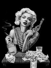 Marilyn Monroe Tattoo Poster Art Print A4
