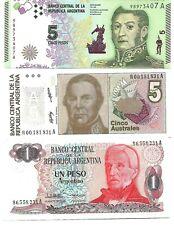 LOTE 3 BILLETES DE ARGENTINA