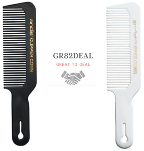 Andis Clipper Comb Black/White Men's Barber Stylist Flat Top Brush Cutting NEW