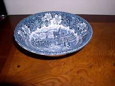 "Royal Tudor Ware - Coaching Taverns - Blue (1828)  Coupe Cereal Bowl - 6 5/8"""