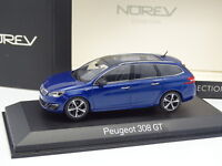 Norev 1/43 - Peugeot 308 GT SW Azul