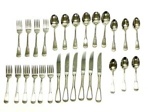 ONEIDA USA Yankee Clipper Stainless Silverware Set 28 Pieces Service for 6
