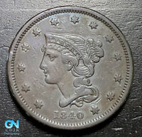 1840 Braided Hair Large Cent --  MAKE US AN OFFER!  #B3277