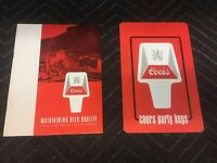 Vintage Coors Beer Info Pamphlets How To Beer Guide For Retailer And Wholesalers