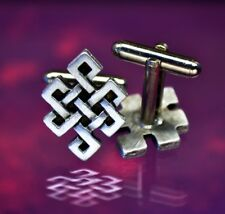 Celtic Endless Knot Cuff Llinks - Celtic | Irish | Handcrafted Pewter Cuff Links