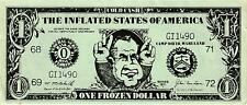 "$1.00 POLITICAL SATIRICAL NOTE ON NIXON ""COLD CASH,INFLATED STATES OF AMERICA"