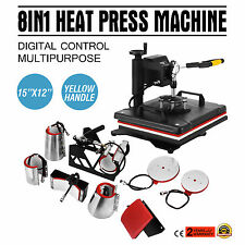 8 IN 1 SWING Heat Press- Machine (CAP, PLATE, MUG,T-SHIRT) Sublimation Transfer