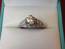 Ladies Platinum and Diamond Estate Ring  -   E.G.L. Certificated *