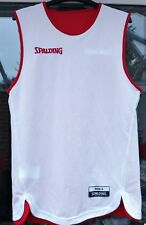 MENS REVERSIBLE White/Red NBA BASKETBALL JERSEY VEST SPALDING - Size SMALL
