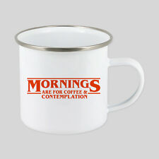 Stranger Things Coffee Enamel Mug Cup Tin Metal Dad Work Gift Garden Home Xmas