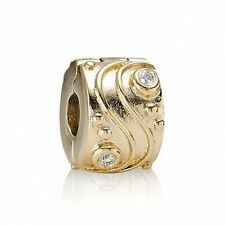 Authentic Pandora Diamond Babbling Brook Clip Bead Charm 750418D 14K Gold
