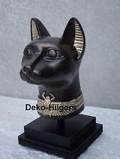 Ägyptische Katze Figur Bastet Skulptur Dekoration Deko Büste Statue  Fa110