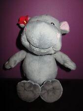 kinder blue hippo soft toy plush