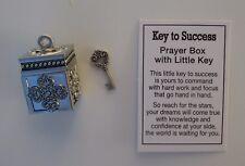 i Key to SUCCESS prayer box miniature key Charm new job promotion ganz graduate