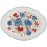 The Pioneer Woman 18-Inch Oval Platter Classic Charm Serving Floral Stoneware