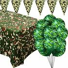 Camouflage Themed Party Supplies Camouflage Plastic Table Cover Camo Tableclo...