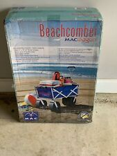 Mac Sports Wtcb100 Folding All Terrain Utility Beach Wagon Cart - Blue/White