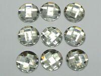 50pcs Clear Acrylic Flatback Rhinestone Round Gem Beads 20mm No Hole